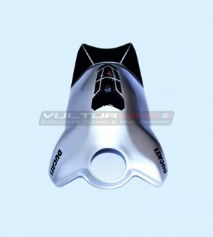 Carbon Tank cover glossy aluminum effect - Ducati Panigale V4 / V4S