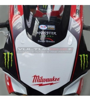 Complete stickers' kit replica Milwaukee - Yamaha R1 15/19