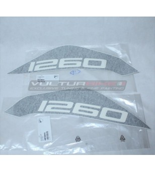 Pair of ORIGINAL tank decals - Ducati Multistrada 1260 ENDURO