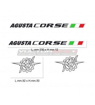 Kit de pegatinas MV agusta corse para varias decoraciones