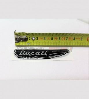 Kit 3 adhesivos de resina 3D Ducati logotipo antiguo scrambler