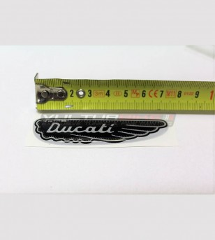 Kit 3 Harz Klebstoffe 3D Ducati altes Logo scrambler