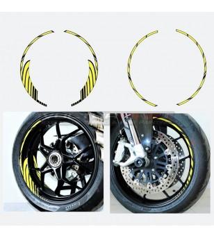 Pegatinas universales para ruedas a color de 17 pulgadas de su elección
