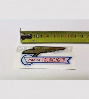 Three Moto Ducati's logo resinated stickers