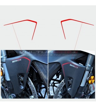 Front mudguard stickers -...