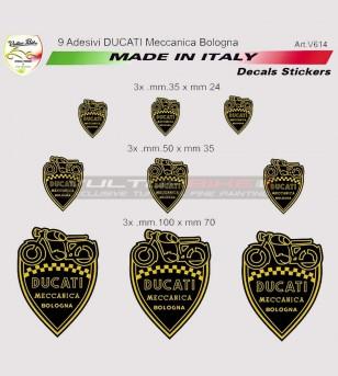 Kit 9 adesivi Ducati Meccanica Bologna