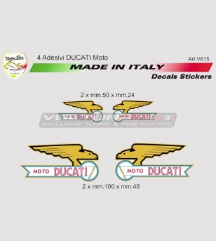Kit 4 pegatinas especiales logo Moto Ducati