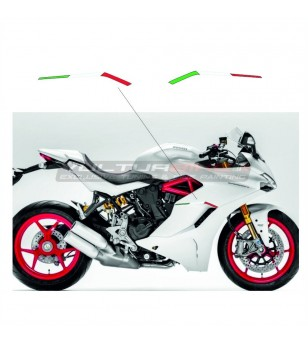 Resin italian flags for side panels - Ducati Supersport 939