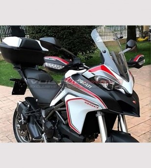 Kit adhésif Graphite-Rosso pour Ducati multistrada 950 - 1200 DVT