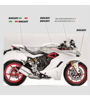 Stickers' kit for white bike - Ducati Supersport 939