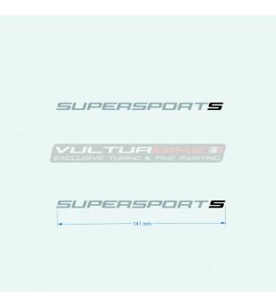 Adesivi 14 cm per carene laterali s nera - Ducati Supersport 939
