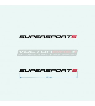 Adesivi 14 cm per carene laterali s rossa - Ducati Supersport 939