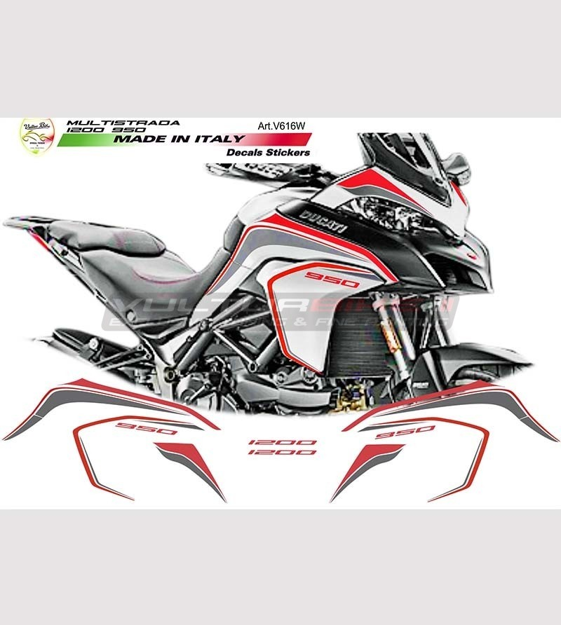 Stickers' kit graphite-red for Ducati multistrada 950 - 1200 DVT
