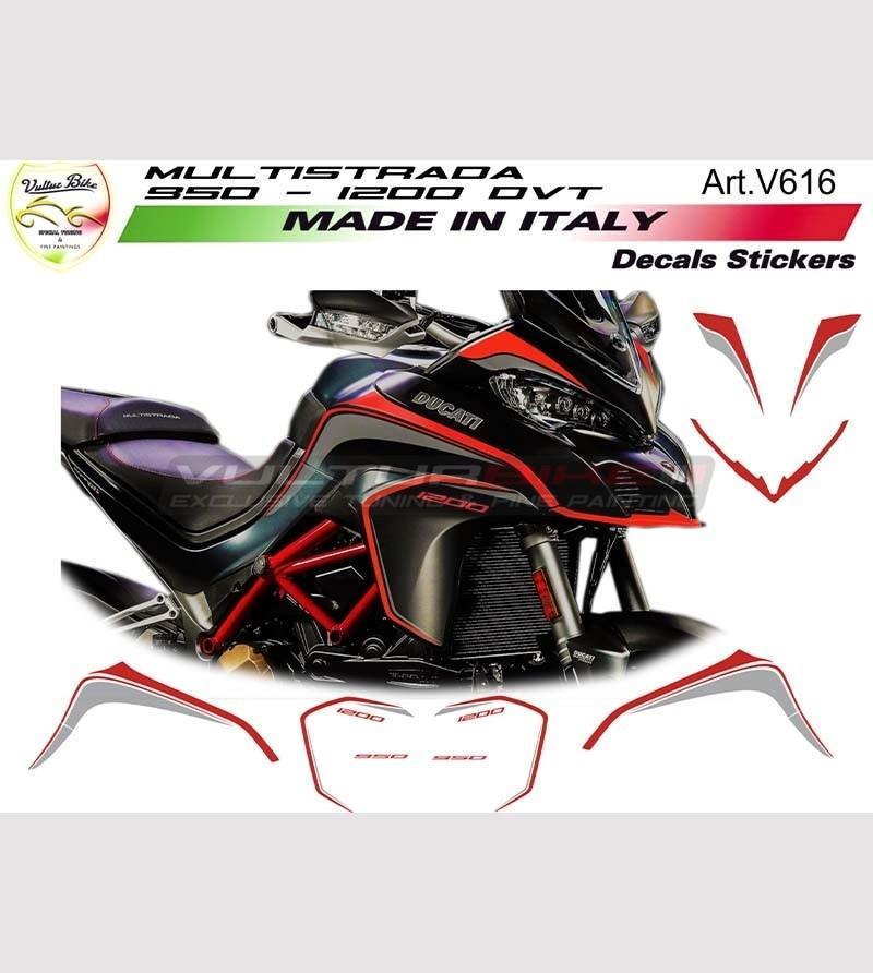 Stickers' for Ducati multistrada 950 - 1200 DVT Volcan Grey