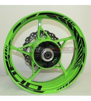 Autocollants de roue personnalisables - Kawasaki Z900