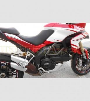 Hechte-Peak Tricolor Aufkleber - Ducati Multistrada 1200
