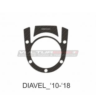 Protección de zona de tanque y llave de encendido - DUCATI DIAVEL 2010 / 2018