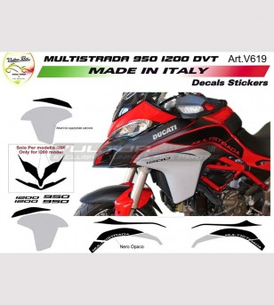 Kit adesivi wrapping per Ducati Multistrada 950 - 1200 DVT