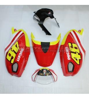 Kit carene Monster originali Valentino Rossi VR 46 GP - Ducati Monster 696 / 796 / 1100