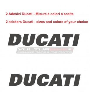 Coppia di adesivi scritta Ducati personalizzabile universale