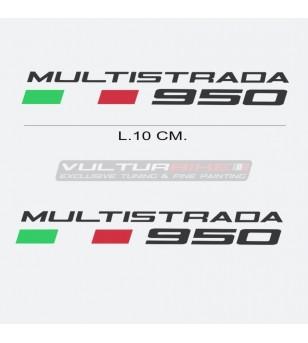 Par de pegatinas escritas Ducati Multistrada 950