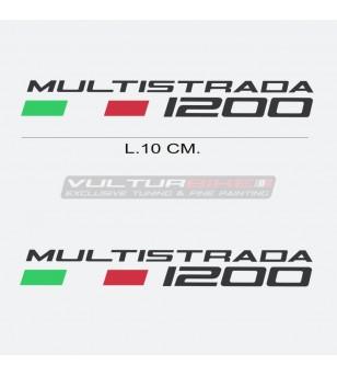 Par de pegatinas escritas Ducati Multistrada 1200