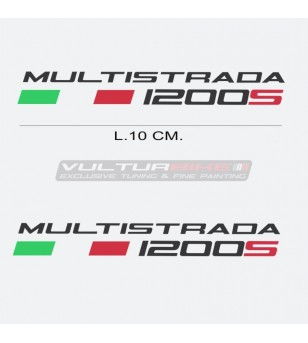Pair of stickers - Ducati Multistrada 1200s lettering