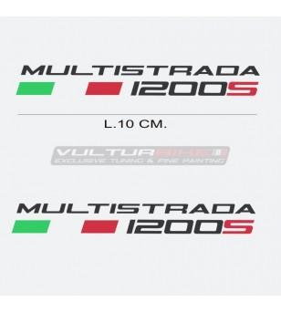 Par de pegatinas escritas Ducati Multistrada década de 1200