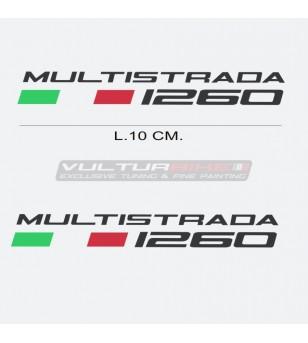 Par de pegatinas escritas Ducati Multistrada 1260