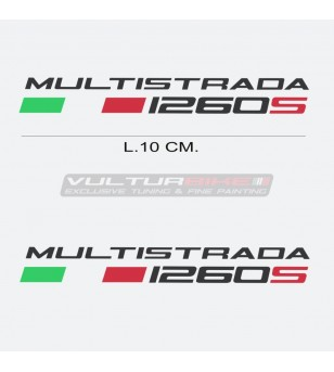 Pair of stickers - Ducati Multistrada 1260s lettering
