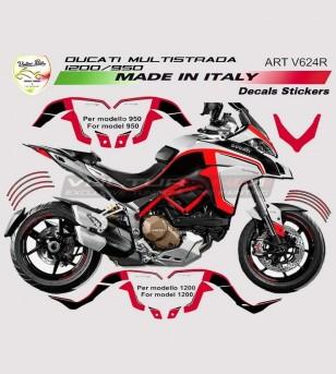 Kit adesivi per Ducati Multistrada 950 - 1200 DVT anno 2015/17