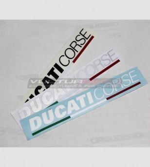 Kit 2 Ducati Corse Aufkleber in verschiedenen Größen