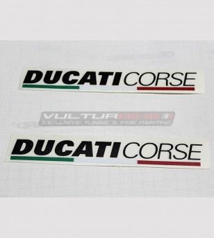 Kit 2 adesivi Ducati Corse varie dimensioni
