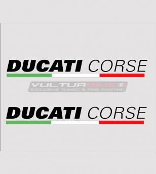 Kit 2 Ducati Corse pegatinas de varios tamaños
