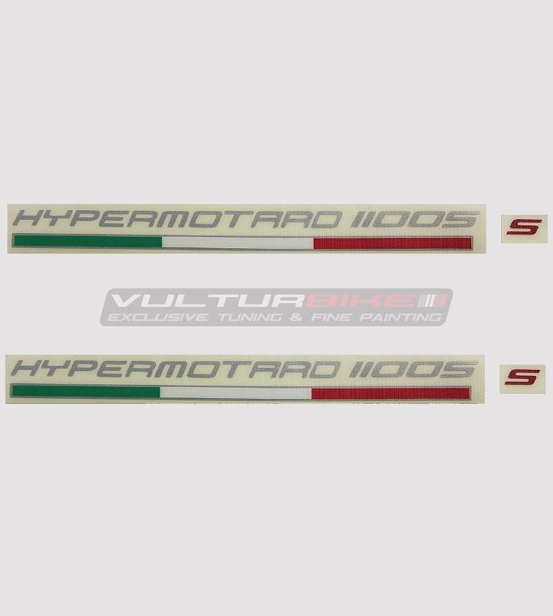 Kit 2 stickers for Ducati Hypermotard 796/1100/821/939