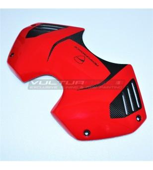 Couvercle original de la batterie de conception carbone Ducati - Panigale V4 / V4S / V4R