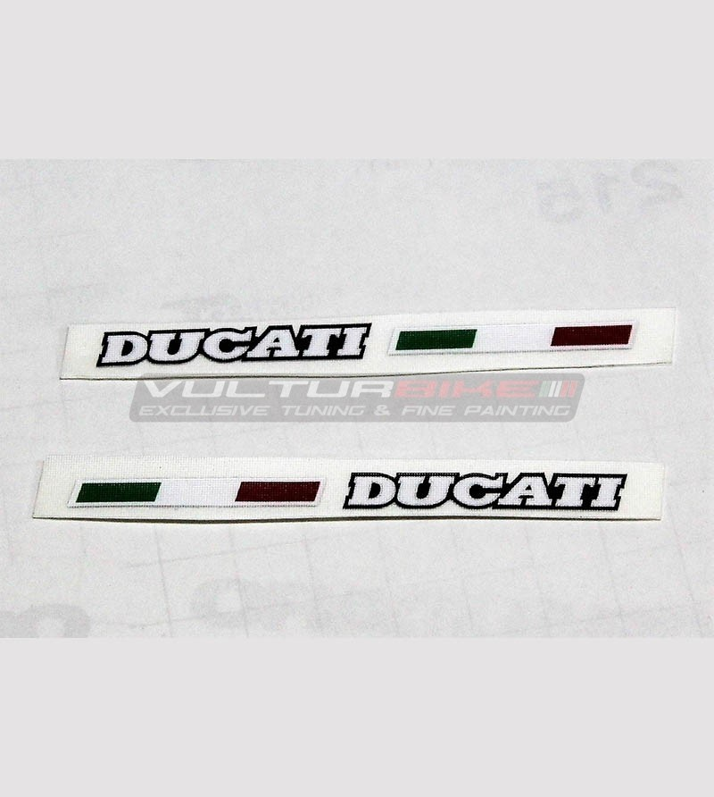 2 Ducati stickers with italian flag