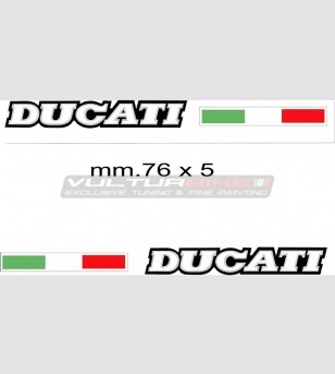 Kit 2 adesivi Ducati con bandierina