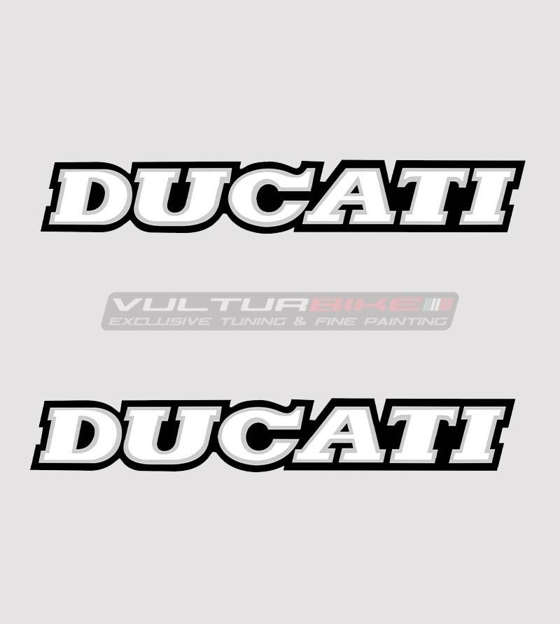 Kit 2 adesivi Ducati varie misure