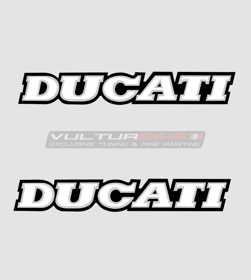 Kit 2 Ducati stickers in various sizes