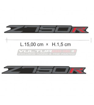 Pair of stickers for tail 15.5 x 1.5 cm - Kawasaki Z750R