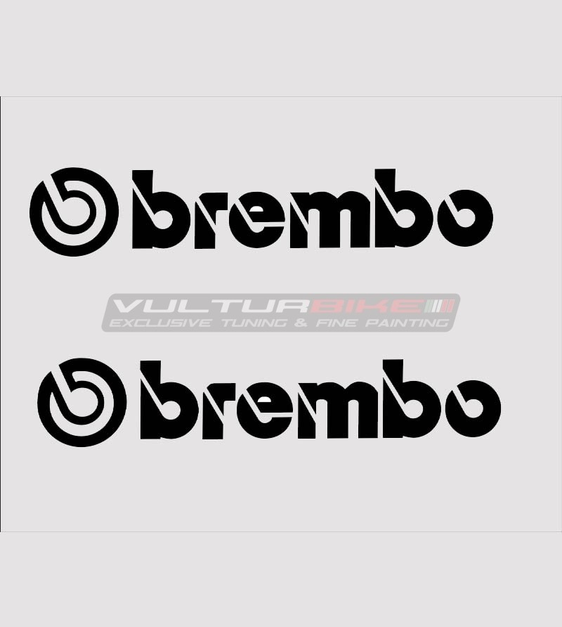 Kit 2 adesivi Brembo varie misure