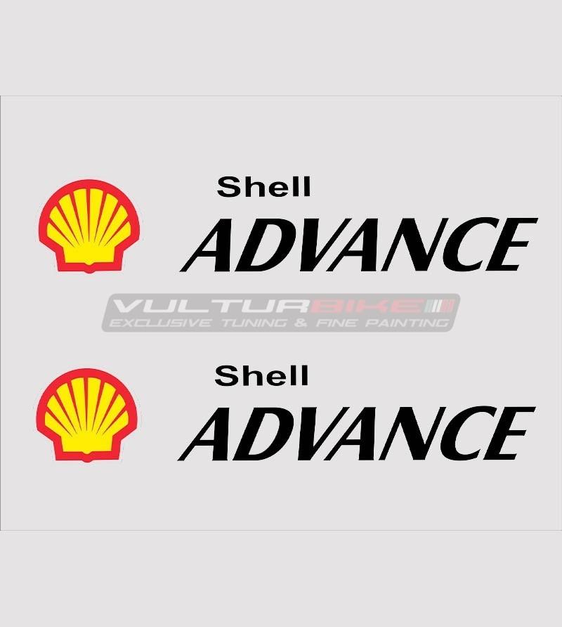 Kit 2 Pegatinas Shell Advance de varios tamaños