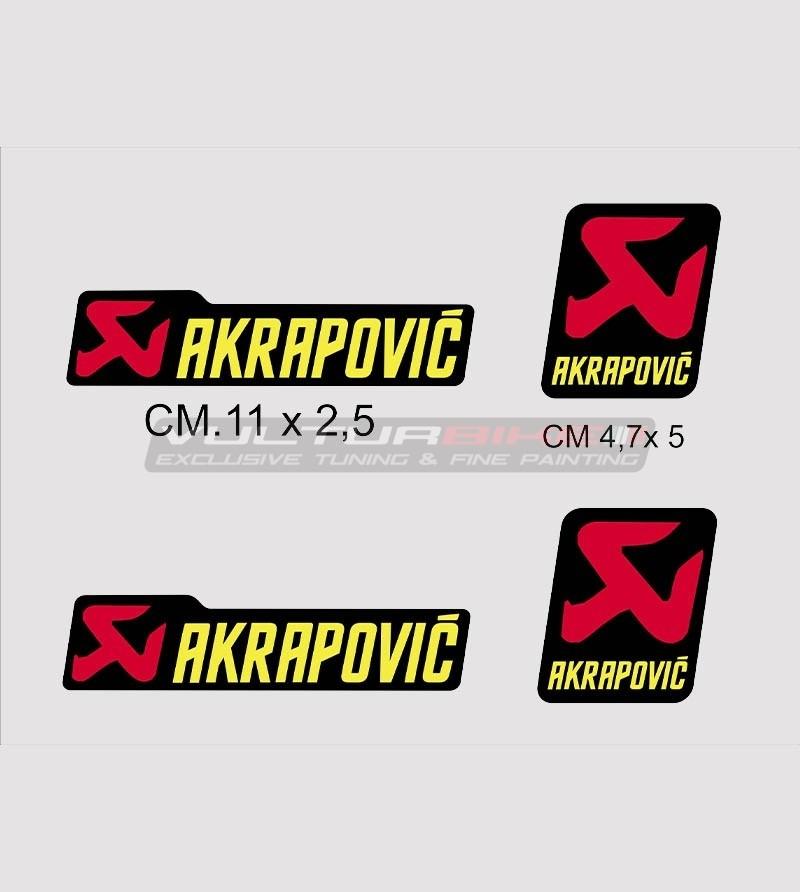 Kit 4 adesivi Akrapovic
