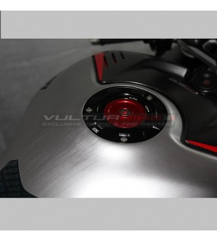 Carbon Tank cover brushed aluminum effect - Ducati Panigale V4 streetfighter v4