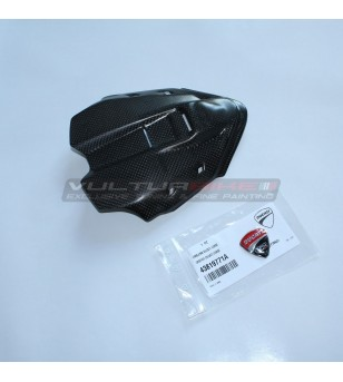 Carbon instrument cover with shield sticker - Ducati Panigale V4 / V4S