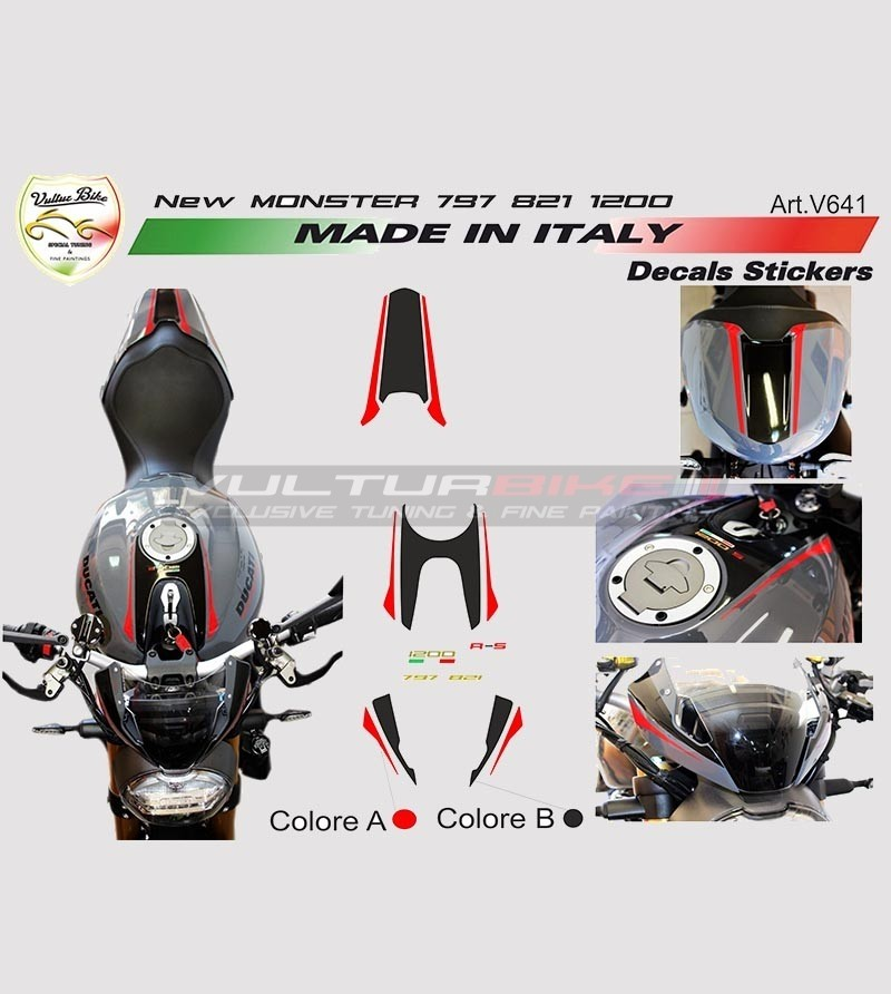Stickers' kit for new Ducati Monster 797/821/1200 - 2018
