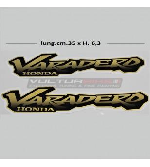 Pegatinas de oro para laterales - Honda Varadero