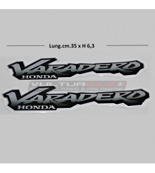 Pegatinas de plata para laterales - Honda Varadero