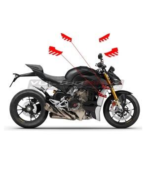 Pegatinas de aleta de edición stripe - Ducati Streetfighter V4 / V4S